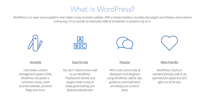 bluehost hosting wordpress