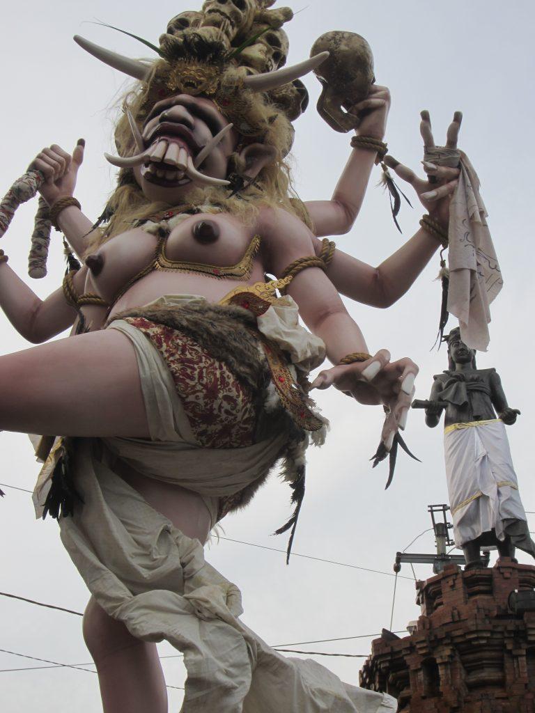 ugly monster in bali Nyepi in Bali