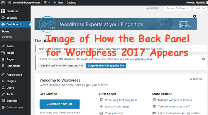 Installing WordPress 2017 on Bluehost